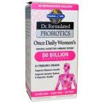 Garden of Life, Dr. Formulated Probiotics, Dose Diária Única para Mulheres, 30 Cápsulas de Vegetais   Comprar Suplemento em Promoção Site Barato e Bom