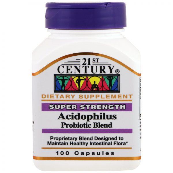 21st Century, Mistura Probiótica de Acidófilos, 100 Comprimidos   Comprar Suplemento em Promoção Site Barato e Bom