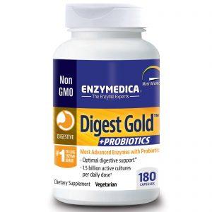 Enzymedica, Digest Gold + Probióticos, 180 Cápsulas   Comprar Suplemento em Promoção Site Barato e Bom