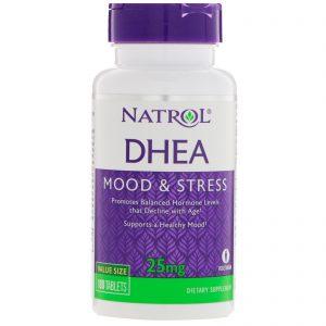 Natrol, DHEA, Mood & Stress, 25 mg, 180 Tablets   Comprar Suplemento em Promoção Site Barato e Bom