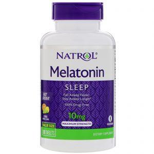 Natrol, Melatonina, Força Máxima, Sabor de Citrus , 10 mg, 100 Comprimidos   Comprar Suplemento em Promoção Site Barato e Bom