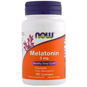 Now Foods, Melatonina, 3 mg, 180 pastilhas   Comprar Suplemento em Promoção Site Barato e Bom