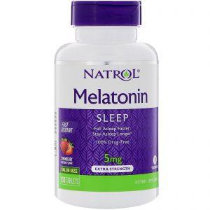 Natrol, Melatonina, Dissolve Rápido, Morango, 5 mg, 150 Comprimidos   Comprar Suplemento em Promoção Site Barato e Bom