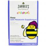 Zarbee's, Suplemento Infantil com Melatonina para Sono, Uva Natural, 30 comprimidos mastigáveis   Comprar Suplemento em Promoção Site Barato e Bom