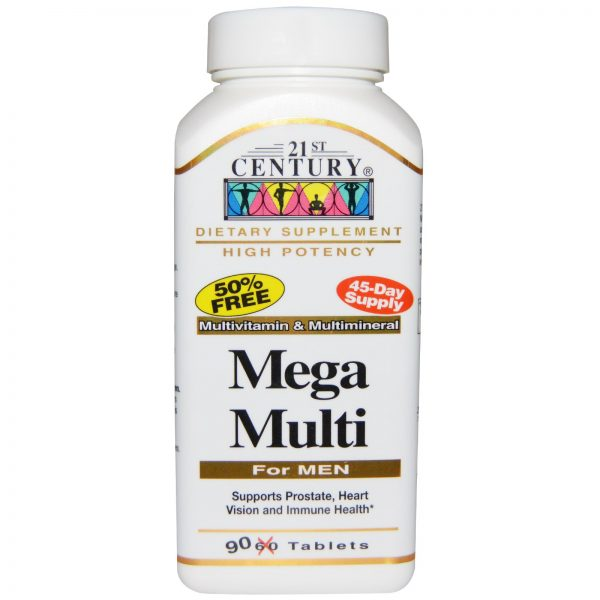 21st Century, Mega Multi, Para Homens, Multivitamínico e Multimineiral, 90 Comprimidos   Comprar Suplemento em Promoção Site Barato e Bom