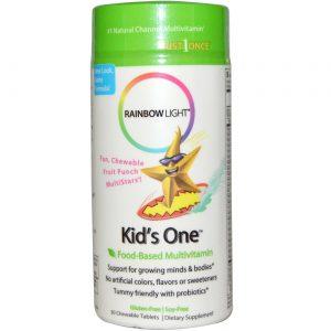Rainbow Light Crianças Um multivitamínico 30 mastigáveis   Comprar Suplemento em Promoção Site Barato e Bom