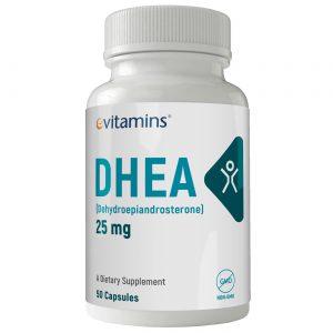 eVitamins DHEA - 25 mg - 50 Cápsulas   Comprar Suplemento em Promoção Site Barato e Bom