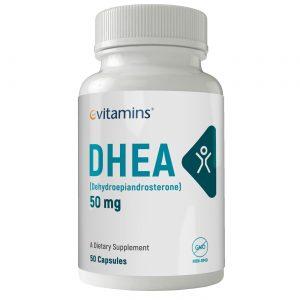 eVitamins DHEA - 50 mg - 50 Cápsulas   Comprar Suplemento em Promoção Site Barato e Bom
