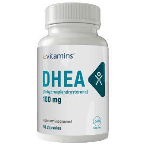 eVitamins DHEA - 100 mg - 30 Cápsulas   Comprar Suplemento em Promoção Site Barato e Bom