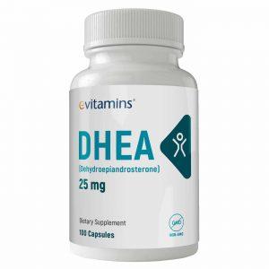 eVitamins DHEA - 25 mg - 100 Cápsulas   Comprar Suplemento em Promoção Site Barato e Bom