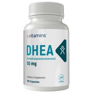 eVitamins DHEA - 50 mg - 100 Cápsulas   Comprar Suplemento em Promoção Site Barato e Bom