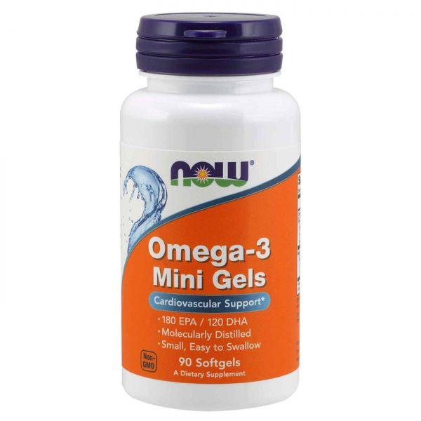 Omega 3 Mini Gels Now Foods 90 Cápsulas em Gel   Comprar Suplemento em Promoção Site Barato e Bom