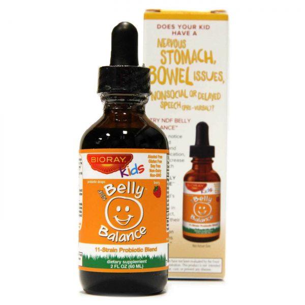 Bioray Kids, NDF Belly Balance, 11-Strain Probiotic Blend, Berry Flavor - 2 fl. oz.   Comprar Suplemento em Promoção Site Barato e Bom