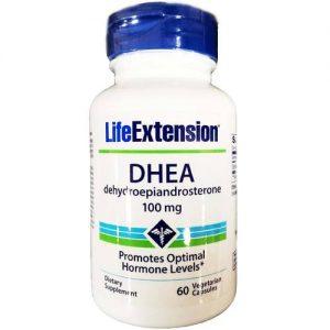 DHEA 100 mg Life Extension 60 Cápsulas   Comprar Suplemento em Promoção Site Barato e Bom