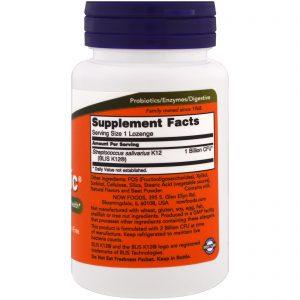 OralBiotic Now Foods Probiótico Oral 60 Pastilhas   Comprar Suplemento em Promoção Site Barato e Bom