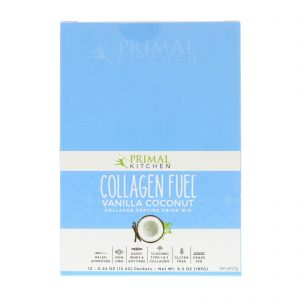 Primal Kitchen, Collagen Fuel, Collagen Peptide Drink Mix, Vanilla Coconut, 12 Packets, 0.54 oz (15.4 g) Each   Comprar Suplemento em Promoção Site Barato e Bom