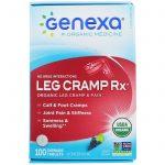 Genexa LLC, Leg Cramp Rx, orgânico para cãibras e dor das pernas, sabor uva, 100 tabletes mastigáveis   Comprar Suplemento em Promoção Site Barato e Bom