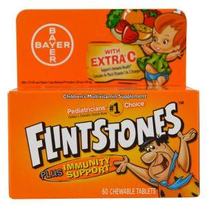 Flintstones, Suplemento Multivitamínico para Crianças, Sabor Frutas, 60 Comprimidos Mastigáveis de Sabor Suave   Comprar Suplemento em Promoção Site Barato e Bom