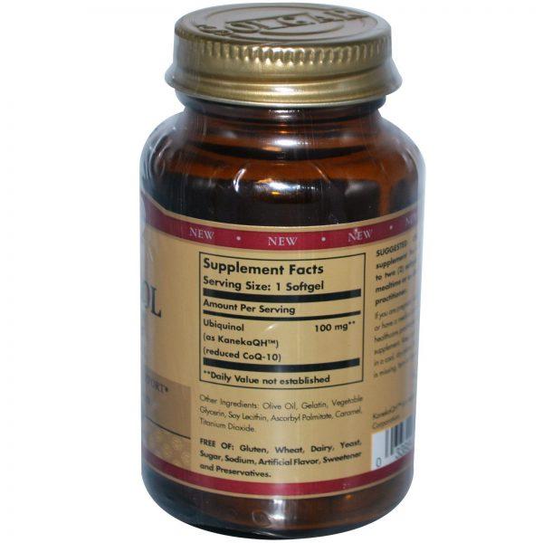Solgar, Ubiquinol, 100 mg, 50 Cápsulas Gelatinosas   Comprar Suplemento em Promoção Site Barato e Bom