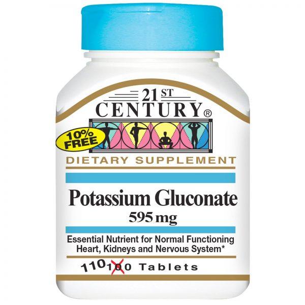 21st Century, Gluconato de Potássio, 595 mg, 110 Comprimidos   Comprar Suplemento em Promoção Site Barato e Bom