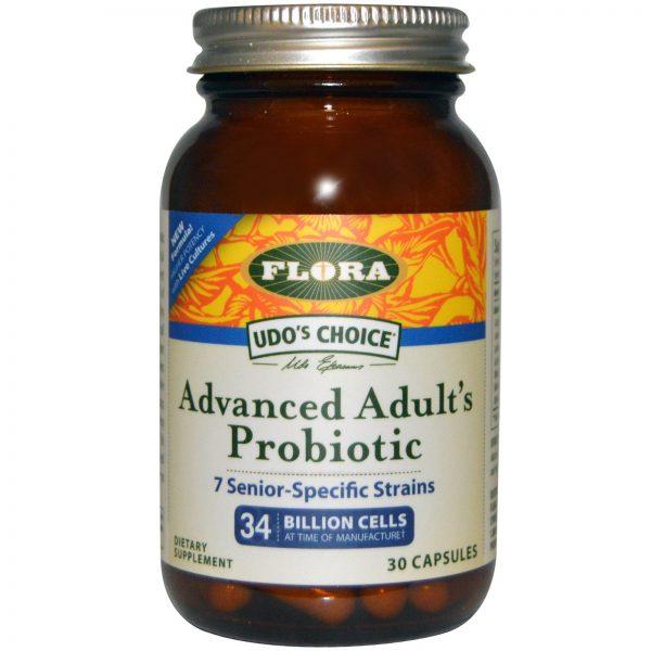 Flora, Udo's Choice, Probiótico Avançado para Adultos, 30 Cápsulas   Comprar Suplemento em Promoção Site Barato e Bom