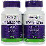 Natrol, Melatonina, 3 mg, 2 Frascos, 60 Comprimidos Cada   Comprar Suplemento em Promoção Site Barato e Bom