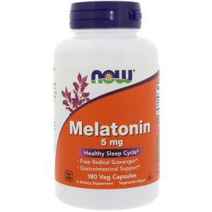 Now Foods, Melatonina, 5 mg, 180 Cápsulas Vegetais   Comprar Suplemento em Promoção Site Barato e Bom