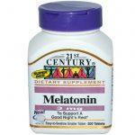 21st Century, Melatonina, 3 mg, 200 Comprimidos   Comprar Suplemento em Promoção Site Barato e Bom