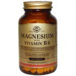 Solgar, Magnésio, com Vitamina B6, 250 Tabletes   Comprar Suplemento em Promoção Site Barato e Bom