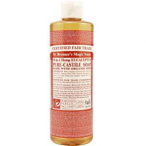 Dr Bronner Eucalyptus Pure Castela sabão Eucalpytus 8 fl oz   Comprar Suplemento em Promoção Site Barato e Bom