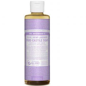 Dr Bronner Óleo de lavanda Pure Lavender Castela sabão 8 fl oz   Comprar Suplemento em Promoção Site Barato e Bom