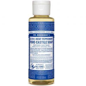 Dr Bronner Hortelã-pimenta Oil Pure Castela Soap Hortelã-pimenta 4 fl oz   Comprar Suplemento em Promoção Site Barato e Bom