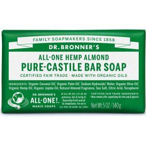 Dr Bronner Orgânico Pure Castela Bar Soap Almond 5 oz   Comprar Suplemento em Promoção Site Barato e Bom