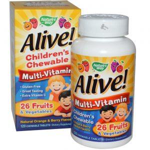 Nature's Way Alive! Infantil Multi-v 120   Comprar Suplemento em Promoção Site Barato e Bom