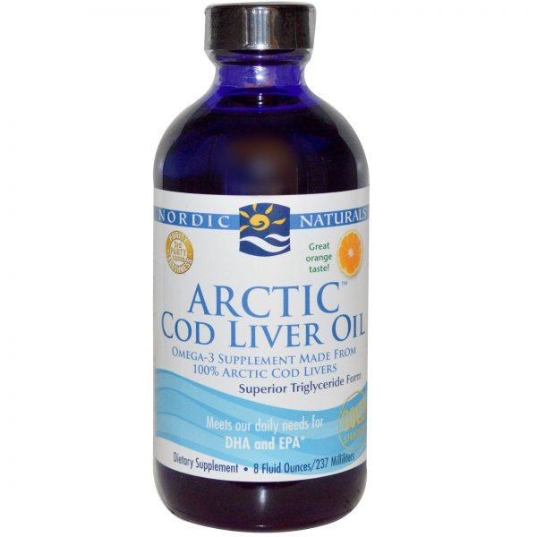 Nordic Naturals, Óleo de Fígado de Bacalhau Ártico, Laranja, 8 fl oz (237 ml)   Comprar Suplemento em Promoção Site Barato e Bom
