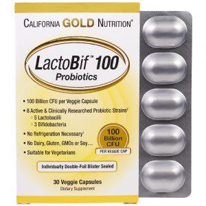 California Gold Nutrition, LactoBif 100 bilhões CFU, 30 unidades, Cápsulas Vegetarianas   Comprar Suplemento em Promoção Site Barato e Bom