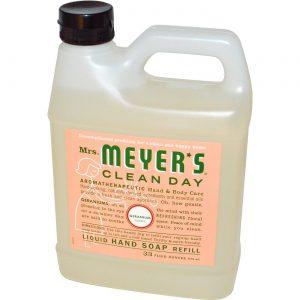 Mrs Meyers Clean Day Sabonete Refil Liq Geranium 33.000 Oz   Comprar Suplemento em Promoção Site Barato e Bom