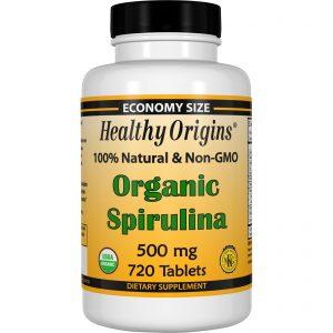 Healthy Origins, Spirulina Orgânica, 500 mg, 720 Cápsulas   Comprar Suplemento em Promoção Site Barato e Bom
