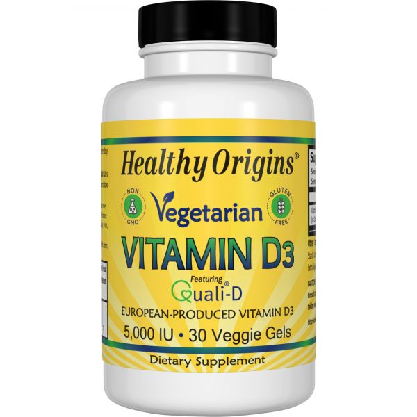 Healthy Origins, Vitamina D3 Vegetariana, 5,000 IU, 30 Gel vegetariano   Comprar Suplemento em Promoção Site Barato e Bom