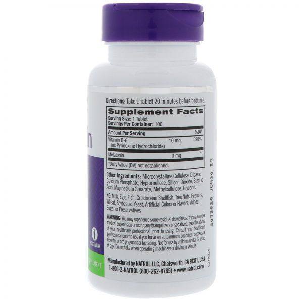 Natrol, Melatonina, Tempo de Liberação, 3 mg, 100 Tabletes   Comprar Suplemento em Promoção Site Barato e Bom