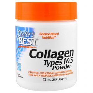 Doctor's Best, O Melhor do Colágeno, Tipos 1 e 3, em pó, 7.1 oz (200 g)   Comprar Suplemento em Promoção Site Barato e Bom