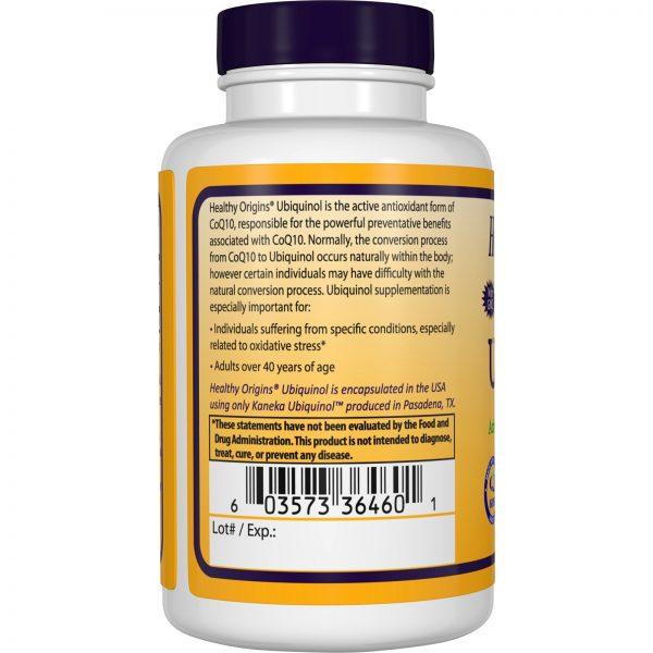 Healthy Origins, Ubiquinol ( Kaneka Q+ ), 50 mg, 60 Softgels   Comprar Suplemento em Promoção Site Barato e Bom