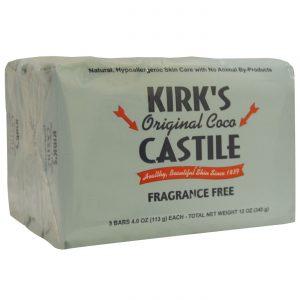 Kirks Natural Products Original Coco Castile Bar Soap, Sem fragrância - 3 - 4 oz Barras   Comprar Suplemento em Promoção Site Barato e Bom