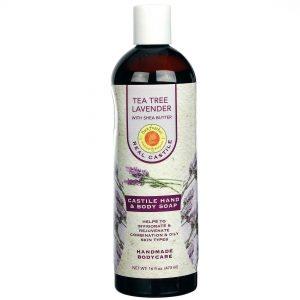 Sunfeather Tea Tree Lavender líquido Castela sabão com Manteiga de Karité 16 fl oz   Comprar Suplemento em Promoção Site Barato e Bom