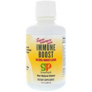 GreenPeach, Immune Boost, Natural Mango Flavor, 16 fl oz (480 ml)   Comprar Suplemento em Promoção Site Barato e Bom