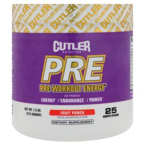 Cutler Nutrition, Energia PRÉ-Exercício, Ponche de Frutas, 213 g   Comprar Suplemento em Promoção Site Barato e Bom