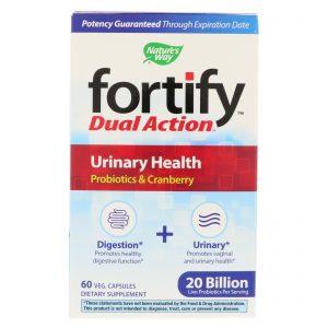 Nature's Way, Fortify, Dual Action Urinary Health, 20 Billion, 60 Veg Capsules   Comprar Suplemento em Promoção Site Barato e Bom