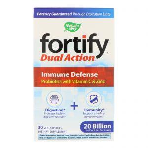 Nature's Way, Fortify, Dual Action Immune Defense, 20 Billion, 30 Veg Capsules   Comprar Suplemento em Promoção Site Barato e Bom