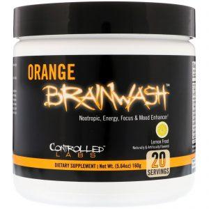 Controlled Labs, Orange Brainwash, Lemon Frost, 5.64 oz (160 g)   Comprar Suplemento em Promoção Site Barato e Bom