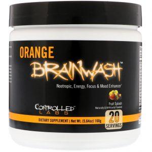 Controlled Labs, Orange Brainwash, Fruit Splash, 5.64 oz (160 g)   Comprar Suplemento em Promoção Site Barato e Bom